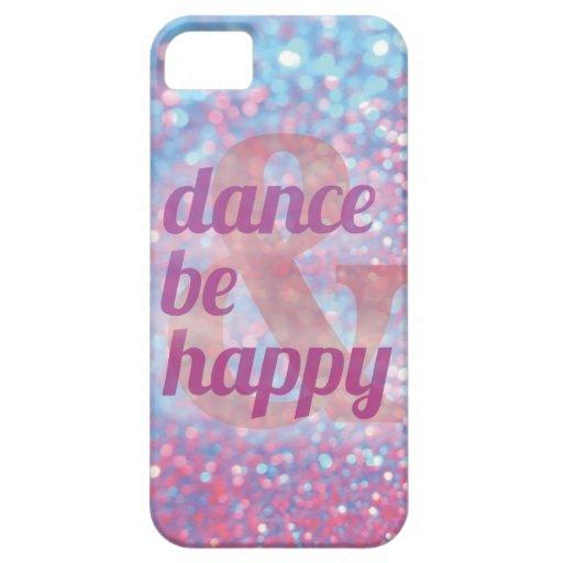 La danza y sea caso feliz del iphone funda para iPhone SE/5/5s
