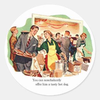 La datación retra del kitsch del vintage le ofrec etiqueta redonda