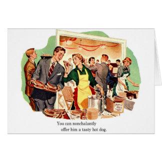 La datación retra del kitsch del vintage 'le ofrec tarjeta de felicitación