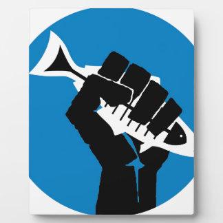 ¡LA de la toma por la tormenta! Placa De Madera