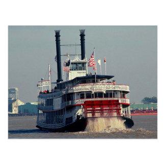 LA de Natchez New Orleans del vapor de paleta de Tarjeta Postal