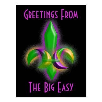 LA de New Orleans de la flor de lis de la postal d