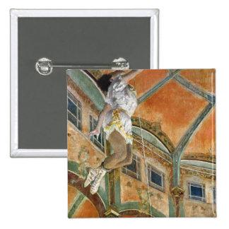 La de Srta. La en el Cirque Fernando, 1879 Pin Cuadrada 5 Cm