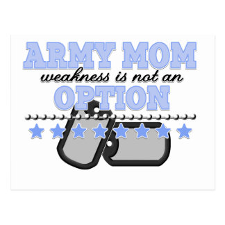 la debilidad no es una mamá del ejército de la tarjeta postal
