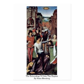 La decapitación de San Juan Bautista de Hans Tarjetas Postales