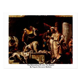 La decapitación de San Juan Bautista Postal