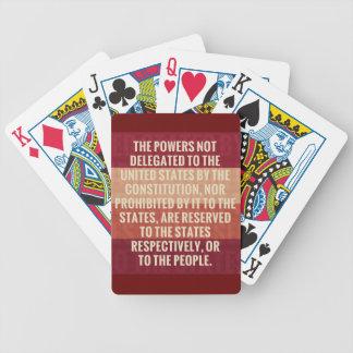 La décima enmienda barajas de cartas
