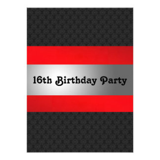 La décimosexto fiesta del cumpleaños del muchacho anuncios personalizados