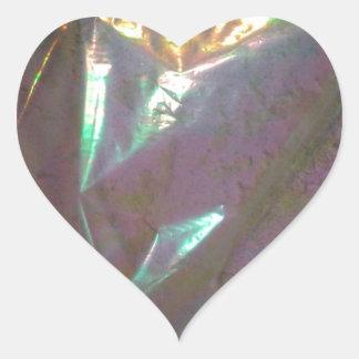 La décimotercero ronda pegatina en forma de corazón