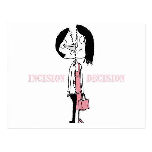 La decisión de la incisión postales