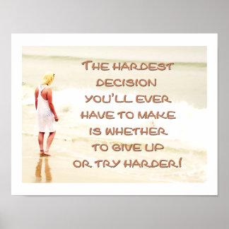 La decisión más dura impresiones