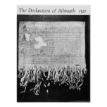 La declaración de Arbroath, el 6 de abril de 1320 Poster