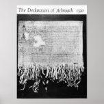 La declaración de Arbroath, el 6 de abril de 1320 Póster