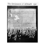 La declaración de Arbroath, el 6 de abril de 1320 Postal