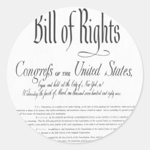 La Declaración de Derechos Etiqueta Redonda