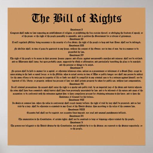La Declaración de Derechos Impresiones