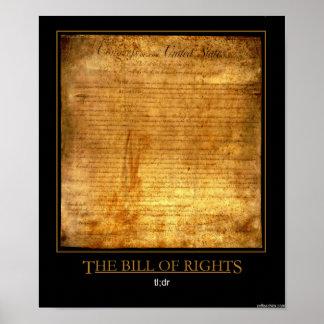La Declaración de Derechos Poster