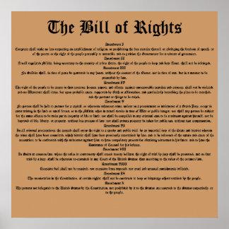 La Declaración de Derechos Póster