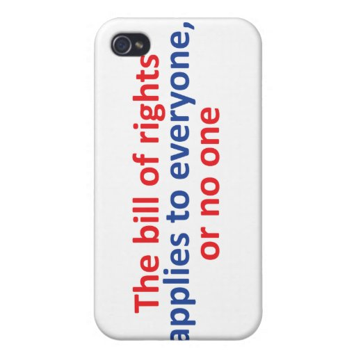 La Declaración de Derechos se aplica a cada uno iPhone 4/4S Carcasa