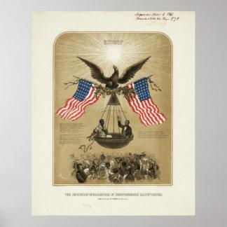 La Declaración de Independencia americana 1861 Póster