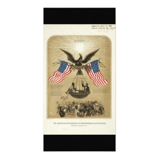 La Declaración de Independencia americana 1861 Tarjetas Personales Con Fotos