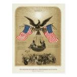 La Declaración de Independencia americana 1861 Postal