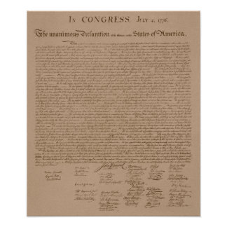 La Declaración de Independencia Impresiones