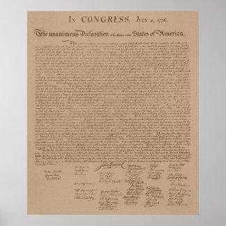 La Declaración de Independencia Póster
