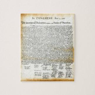 La Declaración de Independencia Puzzle Con Fotos