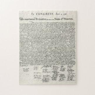 La Declaración de Independencia Rompecabezas
