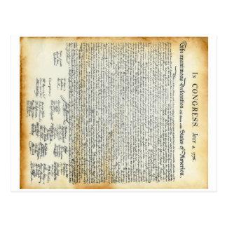 La Declaración de Independencia Tarjetas Postales