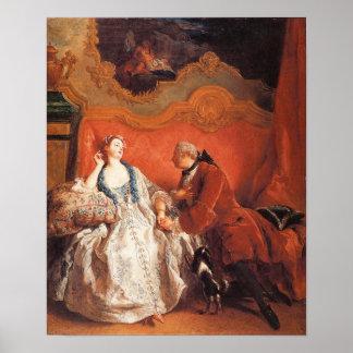 La declaración del amor, 1735 póster