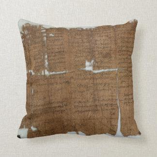 La declaración del papiro de los precios fechó 319 cojín