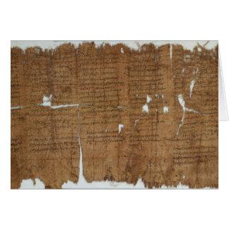 La declaración del papiro de los precios fechó 319 tarjeta de felicitación