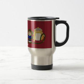 La decoración de la guirnalda del búho del aviador tazas de café