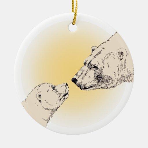 La decoración del arte del oso polar del ornamento ornamentos de reyes