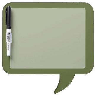 La decoración del verde verde oliva modifica pizarra