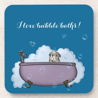 la decoración divertida del cuarto de baño del posavasos de bebida