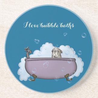 la decoración divertida del cuarto de baño del posavasos para bebidas