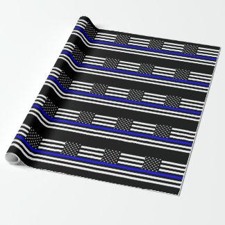 La decoración fina de la bandera americana de Blue Papel De Regalo