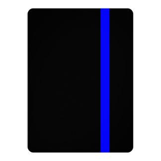 """La decoración fina simbólica de Blue Line Invitación 5.5"""" X 7.5"""""""