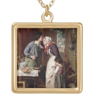 La dedicación de un hijo, 1868 (aceite en lona) colgante cuadrado