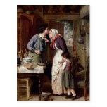 La dedicación de un hijo, 1868 (aceite en lona) tarjetas postales