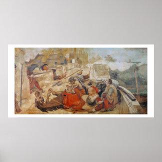 La defensa de Bradshaw de Manchester (1642) Póster