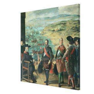 La defensa de Cádiz contra el inglés, 1634 Impresión De Lienzo