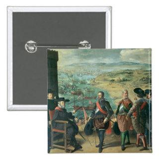 La defensa de Cádiz contra el inglés, 1634 Pin Cuadrado
