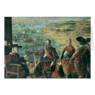 La defensa de Cádiz contra el inglés, 1634 Tarjeta De Felicitación