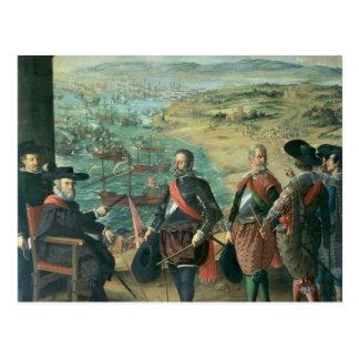 La defensa de Cádiz contra el inglés, 1634 Tarjetas Postales