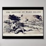La defensa de la isla Wake Posters