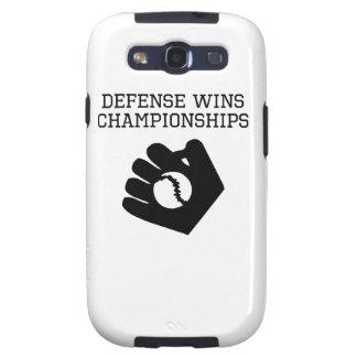 La defensa gana campeonatos galaxy SIII fundas